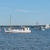 Buyboats  BESSIE L  ^  THOMAS  J ( committee boat for the race )  ^  Skipjack VIRGINIA W