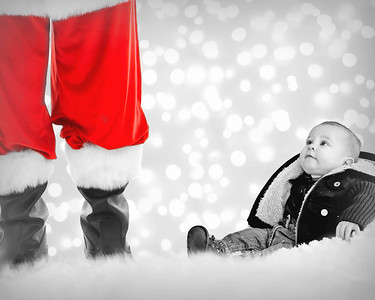 8x10 Merry And Bright B&W