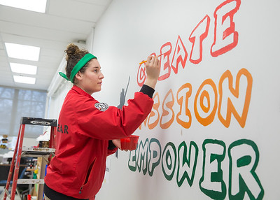 17 January 2017, City Year Washington, DC's Martin Luther King Jr. Day of service at Theodore Roosevelt High School.