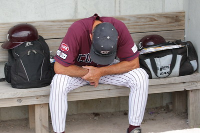 Coach Mike Roberts moments before the first pitch was being thrown at Doran Park. Our Kettleers eventually lost the game and as a result, were eliminated from the playoffs, losing to the Bourne Braves in 2 games.
