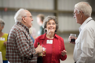Nancy Hawley (center) enjoys the Alumni Spring Barbecue that  is held at the University Farm on Thursday, April 27, 2017, in Chico, Calif.  (Jessica Bartlett/ Photographer)