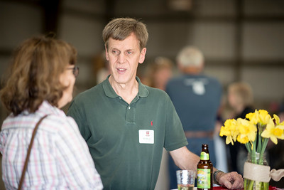 Bill Bowler (right) enjoys the Alumni Spring Barbecue that  is held at the University Farm on Thursday, April 27, 2017, in Chico, Calif.  (Jessica Bartlett/ Photographer)