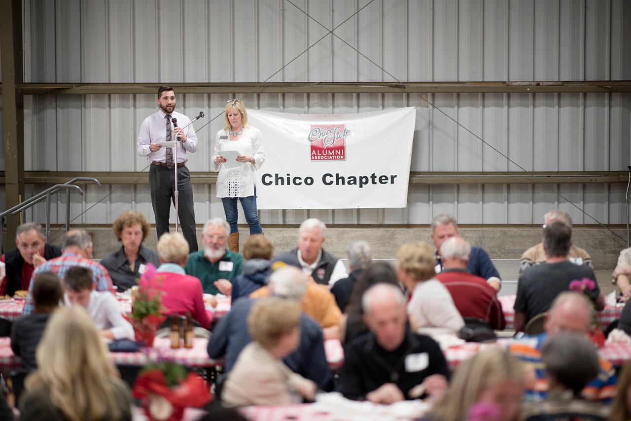 The Alumni Spring Barbecue is held at the University Farm on Thursday, April 27, 2017, in Chico, Calif.  (Jessica Bartlett/ Photographer)