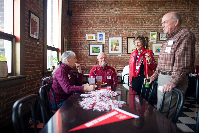 The Alumni Association holds a Basketball Reception at Broadway Heights on Saturday, January 28, 2017. <br /> (Jessica Bartlett/ Student Photographer)