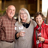 (from left to right) Ralph Meuter (class of '63), Deborah Mullins, and Marilee Meuter (class of '81) enjoy the Alumni Association Basketball Reception at Broadway Heights on Saturday, January 28, 2017. <br /> (Jessica Bartlett/ Student Photographer)