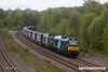 170429-018  Direct Rail Services class 68's No's 68024 Centaur & 68025 Superb are captured passing Clay Cross, powering the diverted Tesco Intermodal, train 4S43, 06:11 Daventry - Mossend Euroterminal.