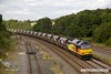 170824-045  Colas Rail Freight class 60 No 60056 passes Clay Cross 209 minutes behind schedule with 4V49, 10:10 Leeds Stourton R.M.C. - Briton Ferry Yard empty coal hoppers.