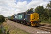 170816-005  Direct Rail Services class 37/4 No 37425 Sir Robert McAlpine, with saloon No 975025 Caroline, captured passing the former Clipstone sidings on the LDECR, which is now just a branch from Shirebrook to High Marnham. Seen with Caroline leading as it heads back from Thoresby where it reversed with 2Z02, 08:35 York - York.