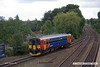 170820-001  East Midlands Trains class 153 sprinter unit No 153319 pulls away from platform three at Mansfield Woodhouse with 2D03, the 12:14 Mansfield Woodhouse - Nottingham.