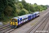170824-018  Northern class 158 unit No 158909 passing Hasland with 1Y32, the 13:17 Nottingham - Leeds.
