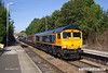 170826-002  GB Railfreight class 66/7 No 66763 Severn Valley Railway & 66707 Sir Sam Fay are captured 'top & tail' passing through Elton & Orston with 1S03, the 09:43 Nottingham - Skegness. This was a East Midlands Trains special service to meet the extra demand for the bank holiday weekend.