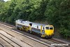 170824-007  Volker Rail's Plasser & Theurer Tamping machine No DR75401 is captured passing Hasland, Chesterfield, with staff trainer 6J38, 10:47 Chesterfield Down Sidings - Chesterfield Down Sidings.