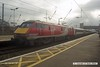 170207-007  Virgin East Coast class 91 No 91113  is seen at Newark North Gate, at the rear of 1Y82, the 10:03 Leeds - London King's Cross.