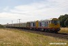 """170716-005  Harry Needle's class 20's No's 20132 Barrow Hill Depot & 20118 Saltburn-by-the-Sea are captured passing Rushey Sidings, Retford, powering GB Railfreight's """"Charitable Chibble"""" railtour."""
