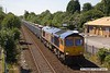 170717-003  GB Railfreight class 66/7 No 66752 The Hoosier State, seen passing Tenter Lane , Mansfield, powering 6E89, 10:20 Wellingborough up TC - Rylestone empty box wagons.