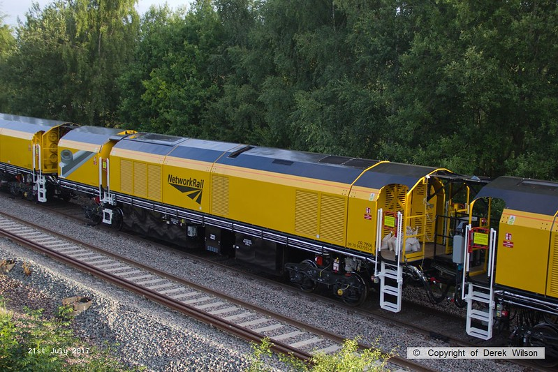170721-012  Loram PLG(01) Plain Line Rail Grinder, vehicle No DR79506 (99 70 9427 051-6 ), seen on the High Marnham Test Track.