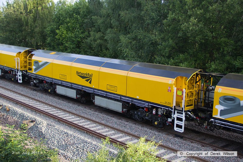 170721-013  Loram PLG(01) Plain Line Rail Grinder, vehicle No DR79505 (99 70 9427 050-8), seen on the High Marnham Test Track.