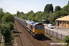 170717-001  GB Railfreight class 66/7 No 66752 The Hoosier State, seen passing Tenter Lane , Mansfield, powering 6E89, 10:20 Wellingborough up TC - Rylestone empty box wagons.