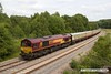 170614-020  DB Cargo class 66/0 No 66182 is seen nearing Boughton Junction, at the rear of UK Railtours 'The Great Central Lament', train 1Z56, the 07:49 Finsbury Park - High Marnham. In the distance leading the train is 66074.
