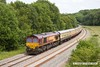 170614-022  DB Cargo class 66/0 No 66182 is seen nearing Boughton Junction, at the rear of UK Railtours 'The Great Central Lament', train 1Z56, the 07:49 Finsbury Park - High Marnham. In the distance leading the train is 66074.