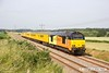 170621-010  Colas Rail Freight class 67's No's 67023 Stella & 67027 Charlotte 'top & tail' with Network Rail test train 1Z11, 08:00 High marnham - Thoresby colliery junction. This was a turning move via Shirebrook Junction & Woodend Junction & is captured on the former LD&ECR, passing Edwinstowe foot crossing, on the way back to the High Marnham test track..