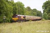 170614-025  UK Railtours 'The Great Central Lament', train 1Z56, the 07:49 Finsbury Park - High Marnham is seen at Boughton junction where it had to stop to operate the ground frame. Nearest at the rear is 66182, leading was 66074.