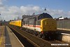 170306-002  Intercity swallow livery class 37 No 37254, top & tail with 37219 is captured passing through Mansfield with PLPR test train 1Q64, 08:53 Derby RTC - Leeds, Neville Hill T.&R.S.M.D.