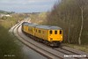 170330-004  DBSO No 9701 is seen leading test train 3Q44, 05:44 Derby RTC - High Marnham, captured approaching Boughton Junction on the High Marnham Test Track. The train was powered by DRS class 37/6 No 37604, which was at the rear.