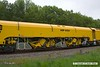 170517-005  Network Rail's new Plasser & Theurer USP6000NR Ballast Regulator No DR77010. Seen near Boughton Junction on the High Marnham Test Track.
