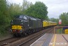 170501-005  Colas Rail Freight class 37's No's 37099 & 37057 top & tail test train 1Q64, 08:53 Derby RTC - Doncaster West yard, captured passing through Mansfield Woodhouse on the Robin Hood Line.
