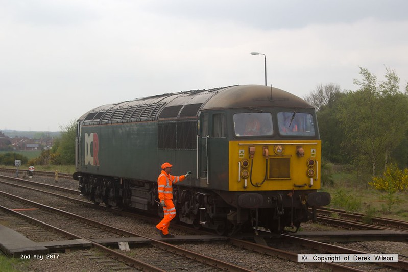 170502-003  The RIDC manager, Phil Walker with the Annetts key, about to climb aboard DCR class 56 No 56303 at Thoresby.