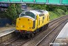 170519-005  Network Rail class 97 No 97301 passing 'light' through Mansfield Woodhouse on the Robin Hood Line, heading to Tuxford to collect Loram Rail Grinder CRG1 (DR79301 - 304), running as 0Z93, 12:30 Derby RTC - Thoresby Colliery Junction 14:08.