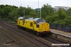 170519-003  Network Rail class 97 No 97301 passing 'light' through Mansfield Woodhouse on the Robin Hood Line, heading to Tuxford to collect Loram Rail Grinder CRG1 (DR79301 - 304), running as 0Z93, 12:30 Derby RTC - Thoresby Colliery Junction 14:08.