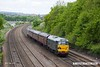 170520-012  Seen heading away from the camera is Europhoenix class 37 No 37608 Andromeda top & tail with DCR class 31 No 31452 passing Hasland, Chesterfield, powering 1Z27, 10:28 Derby - Sheffield - Barrow Hill L.I.P., a special for the Barrow Hill 'Rail Ale Festival'
