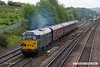170520-031  DCR class 31 No 31452 top & tail with 37608 is seen leaving Chesterfield with 1Z29, 13:26 Chesterfield Barrow Hill L.I.P, a shuttle service for the Barrow Hill 'Rail Ale Festival'