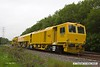 170517-006  Network Rail's new Plasser & Theurer USP6000NR Ballast Regulator No DR77010 which is undergoing commissioning trials failed the previous night & was left stranded near Boughton Junction. The New Measurement train was due to visit the test track for calibration, but because of this blocking the down main it was terminated on arrival at Shirebrook, and returned to Derby early, on a VSTP path.