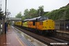 170529-002  Test train 1Q64, 08:53 Derby RTC - Doncaster West Yard trundles through a very wet Kirkby-In-Ashfield, on the Robin Hood Line, powered in top & tail mode by Colas Rail Freight class 37's, No's 37116 & 37219 Jonty Jarvis.