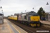 171113-003  Europhoenix class 37 No 37611 Pegasus top & tail with Colas Rail Freight class 37 No 37219 Jonty Jarvis are captured passing through Mansfield, powering test train 1Q64, 09:08 Derby RTC - Gascoigne Wood down loop.