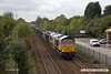 171001-001  GB Railfreight class 66/7 No 66768 passing Tenter Lane, Mansfield, powering 6E89, 10:20 Wellingborough up TC - Rylstone.