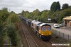 171001-003  GB Railfreight class 66/7 No 66768 passing Tenter Lane, Mansfield, powering 6E89, 10:20 Wellingborough up TC - Rylstone.
