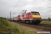 170906-034  Virgin East Coast class 91 electric locomotive No 91130 Lord Mayor of Newcastle, seen speeding past Eaton Lane near Retford at the rear of 1A26, the 11:15 Leeds - London King's Cross.