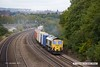 170915-012  Freightliner class 66/5 No 66512 is captured passing Hasland with Intermodal 4O55, 12:13 Leeds F.L.T. - Southampton M.C.T.