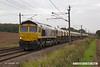 170906-049  GB Railfreight class 66/7 No 66742 ABP Port of Immingham Centenary is captured passing Eaton Lane with 6E84, 08:20 Middleton Towers - Monk Bretton, loaded sand.
