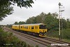 170904-002  Network Rail class 950 ultrasonic test unit No 950001 trundles past the former Clipstone sidings on the LD&ECR, heading to High Marnham with 2Q08, 10:32 Derby RTC - Derby RTC.