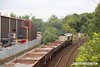 170903-005  Freightliner class 66/5 No 66506 Crewe Regeneration is seen from Princes Street footbridge at Mansfield, powering engineers train 6Y32, 12:30 Woodend Junction - Toton North Yard.