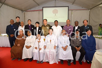 Interfaith Joint Declaration Against Human Traficking @ Archibishop's House on 30th July 2017. 11 Faith Leaders came together to sign the declaration.