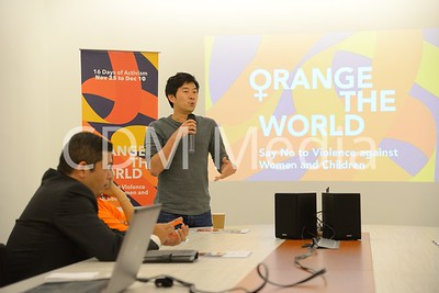 Taken at Archbishop's house - Orange The World Event on 25th Nov 2017