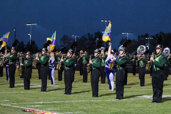 The Raider Band of Northridge lines up in good form for the Concord Invitational in Class B<br /> competition.