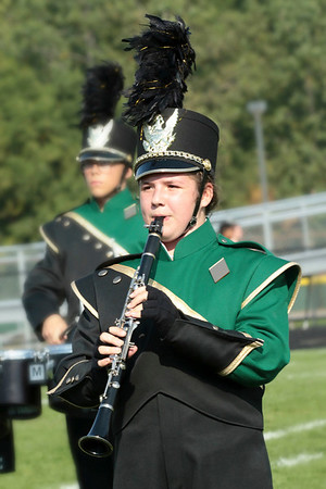 Emelia Dement joins the upperclassmen of Wawasee on the clarinet for their erformance in Class C at Concord Saturday.