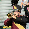 Victoria Safford marches with her trumpet for Jimtown, at Concord's 36th band invitational.